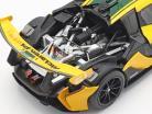 McLaren P1 GTR #51 Afficher moteur Genève 2015 jaune / noir / vert 1:18 Almost Real