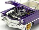Cadillac Eldorado Bouwjaar 1956 met Elvis Figur donkerpaars metalen 1:24 Jada Toys