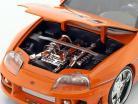 Brian's Toyota Supra Filme Fast & Furious 7 (2015) laranja 1:24 Jada Toys