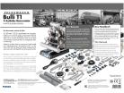Volkswagen VW Bulli T1 4-cylindret boxermotor 1950-1953 Sæt 1:4 Franzis