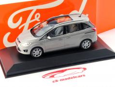 Ford Grand C-Max Ano 2010 cinza metálico 1:43 Minichamps