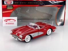 Chevrolet Corvette Year 1958 red 1:18 MotorMax