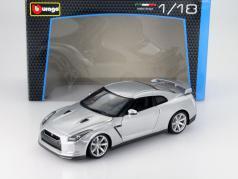 Nissan GT-R Anno 2009 argento 1:18 Bburago