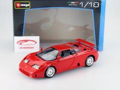 Bugatti EB 110 Anno 1990 rosso 1:18 Bburago