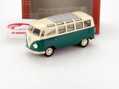 Volkswagen VW Samba Bus Jaar 1962 groen / wit 1:24 Kinsmart