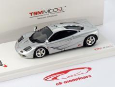 McLaren F1 Ano 1993 Protótipo prata 1:43 TrueScale