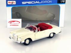 Mercedes-Benz 280 SE Year 1967 cream white 1:18 Maisto