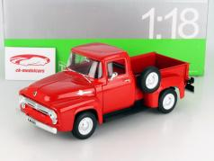 Ford F-100 Pick Up Ano 1956 vermelho 1:18 Welly