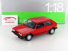 Volkswagen VW Golf I GTI rød 1:18 Welly