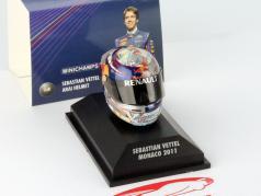 S. Vettel Red Bull GP Monaco Formule 1 Champion du Monde 2011 Casque 1:8 Minichamps