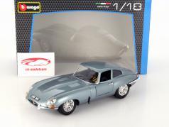 Jaguar E-Type Coupe Year 1961 silver blue metallic 1:18 Bburago