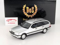 Mercedes-Benz C220 T-Model (S202) zilver 1:18 BoS Modellen