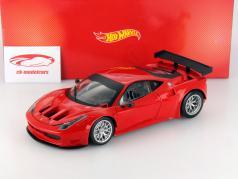 Ferrari 458 Italia GT2 Plain Body Version red 1:18 HotWheels Heritage