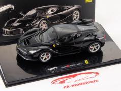 Ferrari LaFerrari Jaar 2013 zwart 1:43 HotWheels Elite