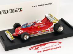 Gilles Villeneuve Ferrari 312 T4 #12 GP Monaco Formula 1 1979 1:43 Brumm