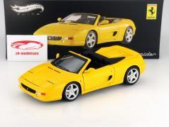 Ferrari F355 Spider Jaar 1994 geel 1:18 HotWheels Elite