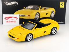 Ferrari F355 Spider År 1994 gul 1:18 HotWheels Elite