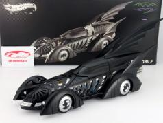 Batmobile Batman Forever Film 1995 mat sort 1:18 HotWheels Elite