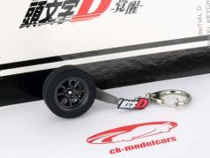 Toyota Sprinter Trueno (AE86) 8 Spoked wheel Keychains black 1:18 AUTOart