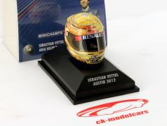 S. Vettel Red Taureau RB8 Formule 1 Champion du Monde 2012 GP Austin Texas Casque 1:8 Minichamps