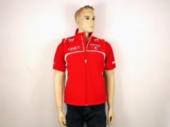 Bianchi / Chilton Marussia Team Gilet Formula 1 2014 rosso / bianco Dimensione L