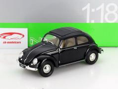 Volkswagen VW Classic bille Opførselsår 1950 sort 1:18 Welly
