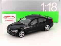 BMW 335i (F30) Jaar 2010 zwart 1:18 Welly