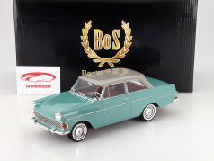 Opel Rekord P2 Année 1961 citron vert / gris clair 1:18 BoS-Models