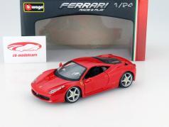 Ferrari 458 Italia red 1:24 Bburago