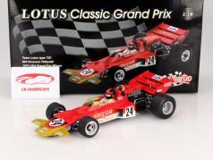 E. Fittipaldi Lotus Typ 72C #24 Ganador USA GP Fórmula 1 1970 1:18 Quartzo