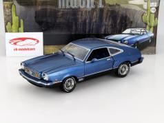 Ford Mustang II Mach 1 ano 1976 azul / preto 1:18 Greenlight
