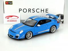 Porsche 911 (997) GT3 RS 4.0 Year 2012 blue / silver 1:18 Bburago