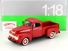 Ford F-1 Pick Up Ano 1951 vermelho 1:18 Welly