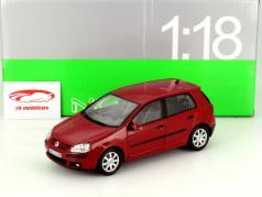 Volkswagen VW Golf V År 2005 rød 1:18 Welly