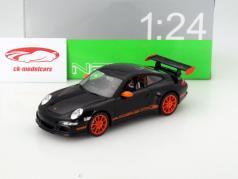 Porsche 911 (997) GT3 RS Year 2007 black / orange 1:24 Welly