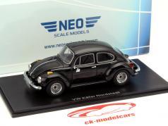 Volkswagen VW Beetle Nordstadt bygget i 1973 sort 1:43 Neo