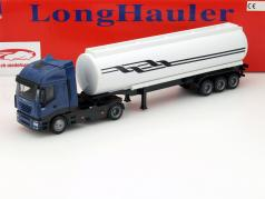 Iveco Stralis Oil transporter blue / white / black 1:43 NewRay