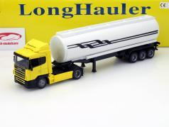Scania R124/400 Oil Transporter yellow 1:43 NewRay