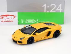 Lamborghini Aventador LP700-4 Baujahr 2011 gelb metallic 1:24 Welly