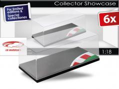 6-组套装~展示盒有机玻璃展示盒底座印上赛道和镶边 1:18 Triple9