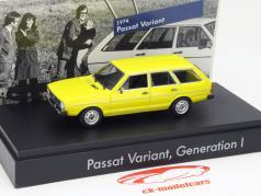 Volkswagen VW Passat Variant I. gen. 1974 gul 1:43 Minichamps