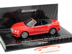 Bentley Continental GTC Speed Année 2012 rouge 1:43 Minichamps
