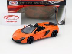 McLaren 650S Spider oranje 1:24 MotorMax