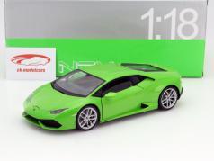 Lamborghini Huracan LP 610-4 Jaar 2015 groen 1:18 Welly