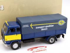 Volvo F88 transport scheepvaart Anvers Bouwjaar 1972 blauw / geel 1:43 DeAgostini