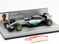 N. Rosberg Mercedes F1 W06 Hybrid #6 Winner Monaco GP F1 2015 1:43 Minichamps