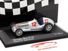 R. Caracciola Mercedes-Benz W125 #12 Gagnant Allemand GP European Championship 1937 1:43 Minichamps