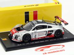 Audi R8 LMS #2 2nd 24h Spa 2015 Stippler, Müller, Ortelli 1:43 Spark