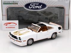 Ford Mustang II King Cobra Année 1978 blanc / or 1:18 Greenlight
