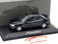 Ford Mondeo Limousine ano 1996 verde escuro metálico 1:43 Minichamps